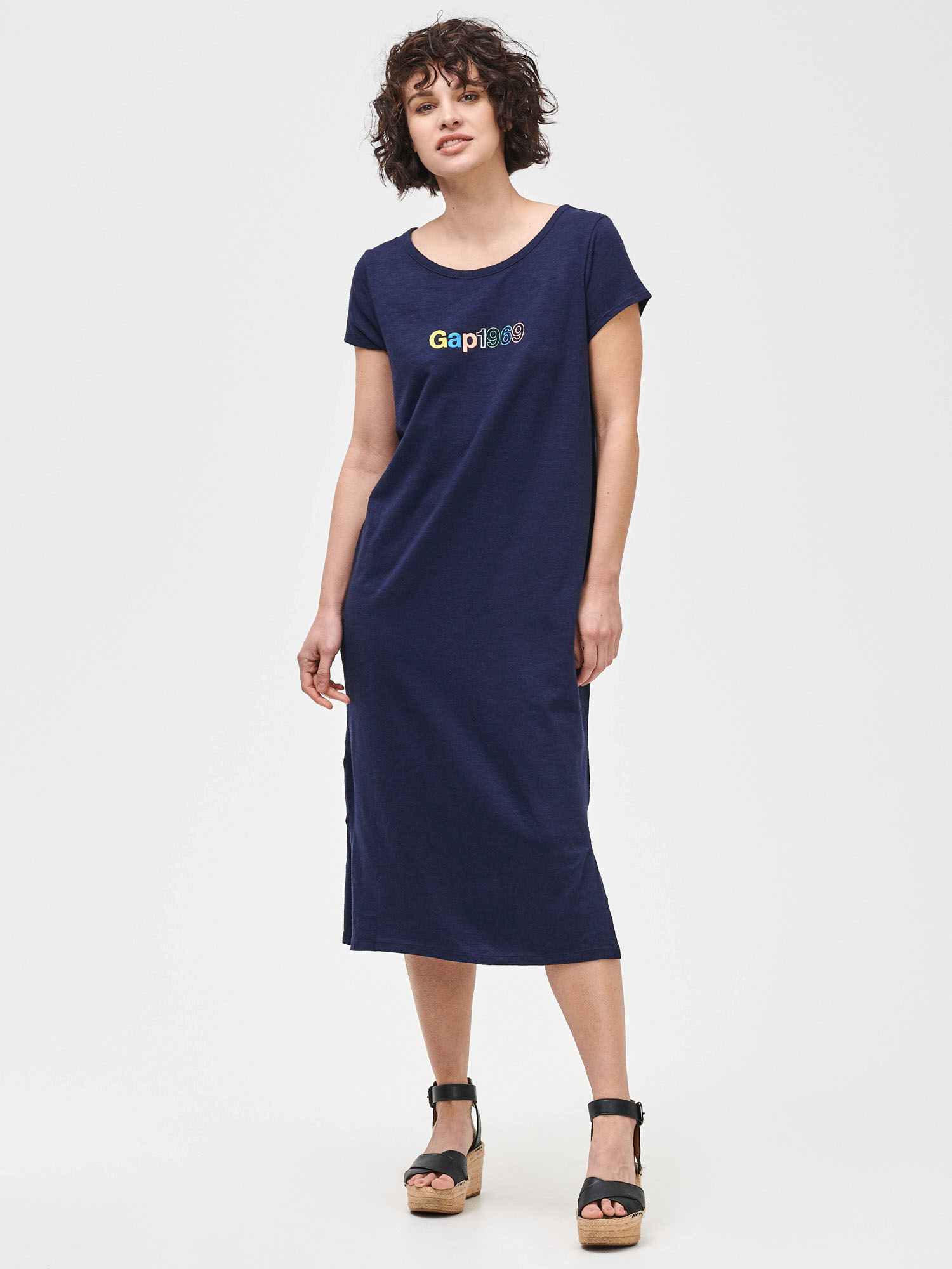 GAP modré midi šaty - M