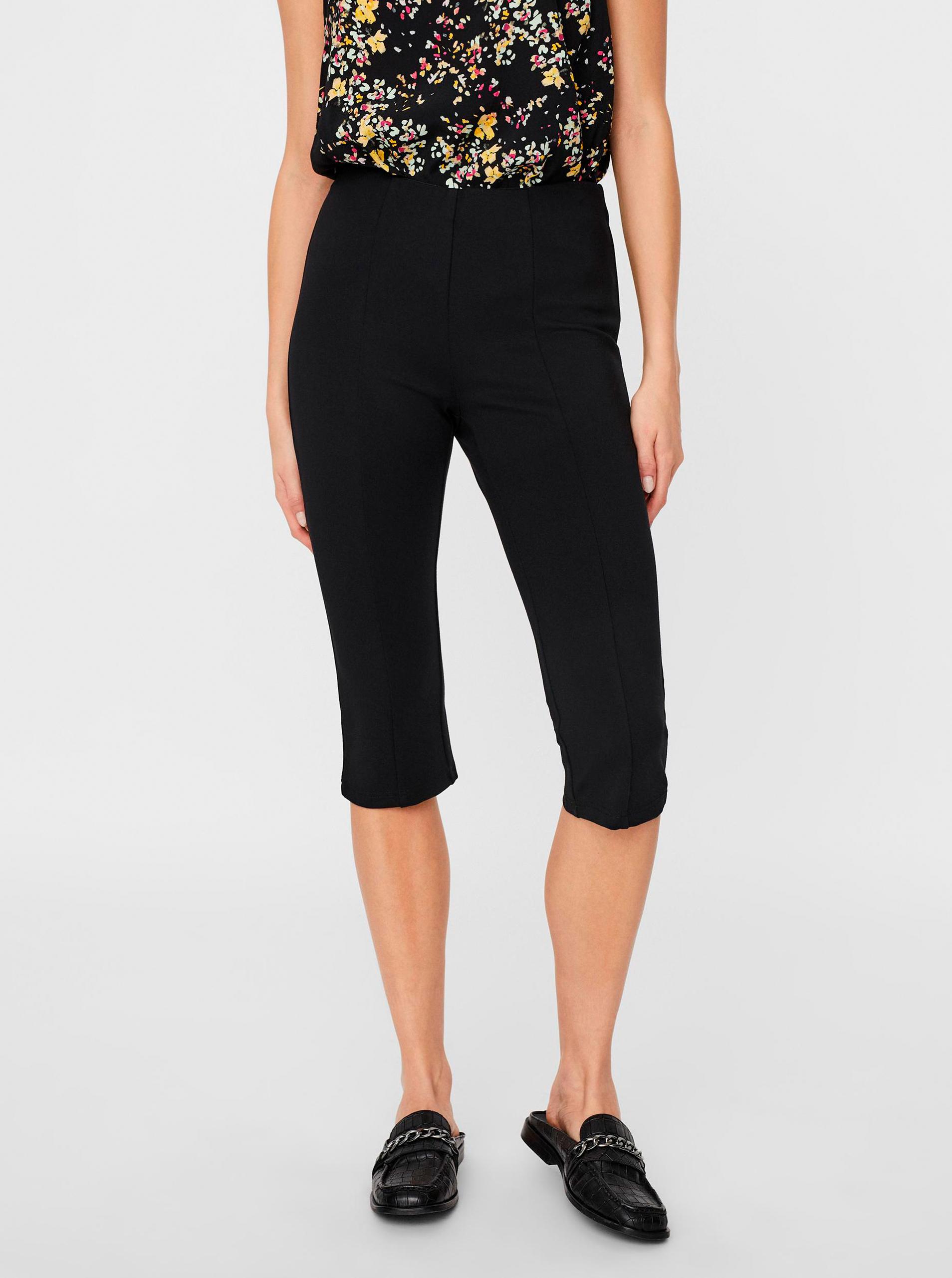 Vero Moda čierne trojštvrťové nohavice Lexie - XS