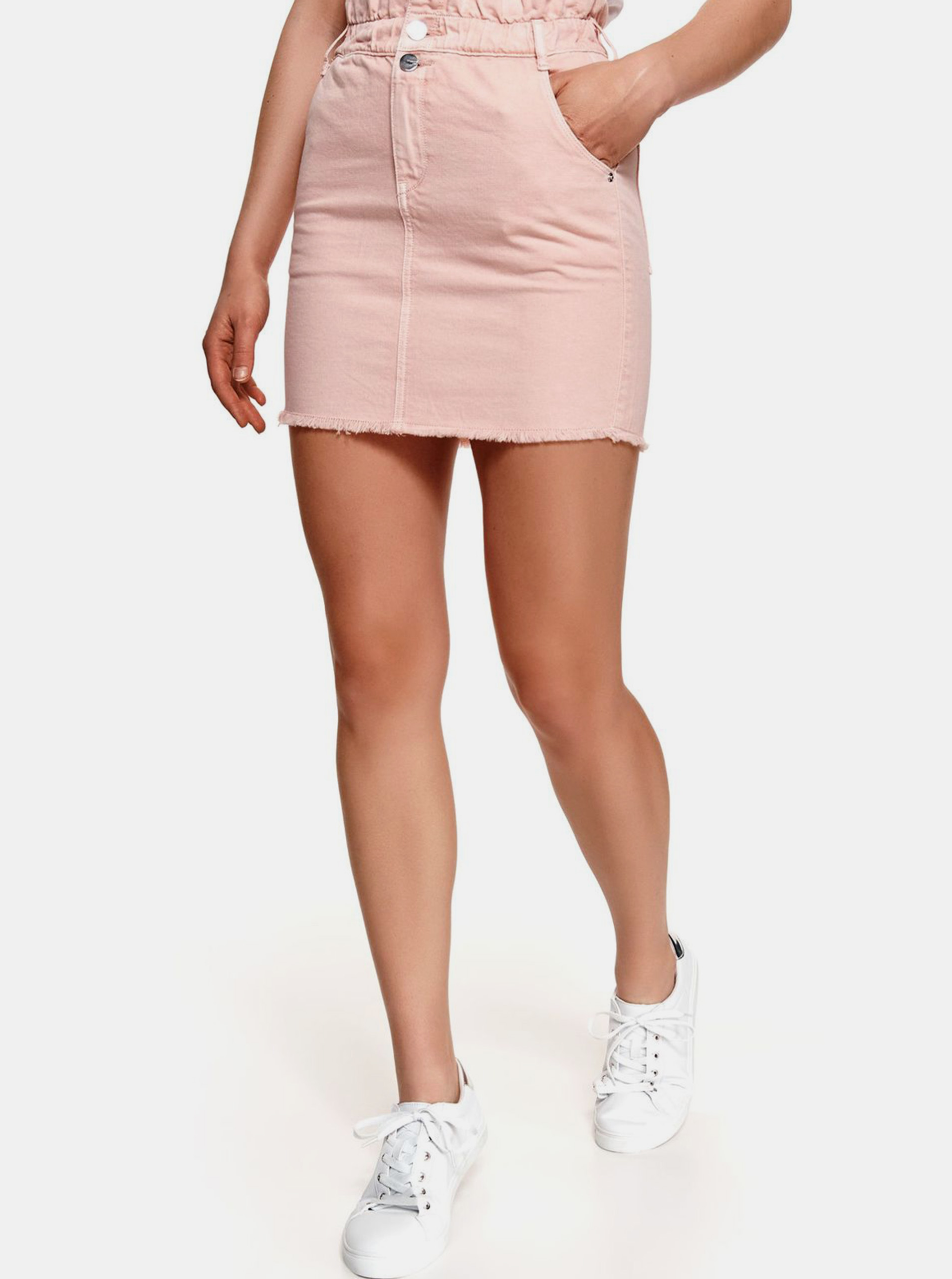 TOP SECRET ružové džínsová minisukňa - XL