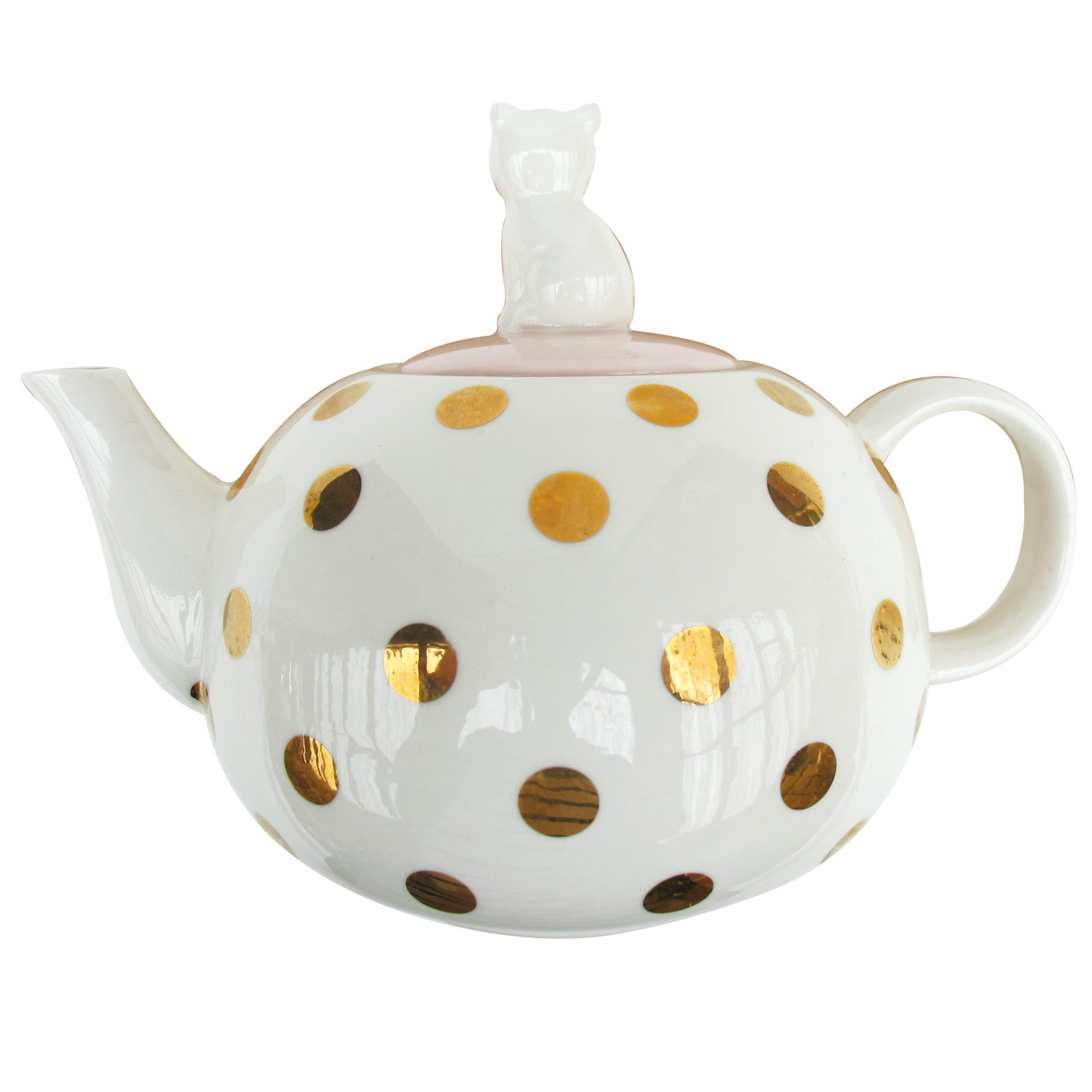 Disaster retro kanvička s mačičkou Spotty Tea Pot