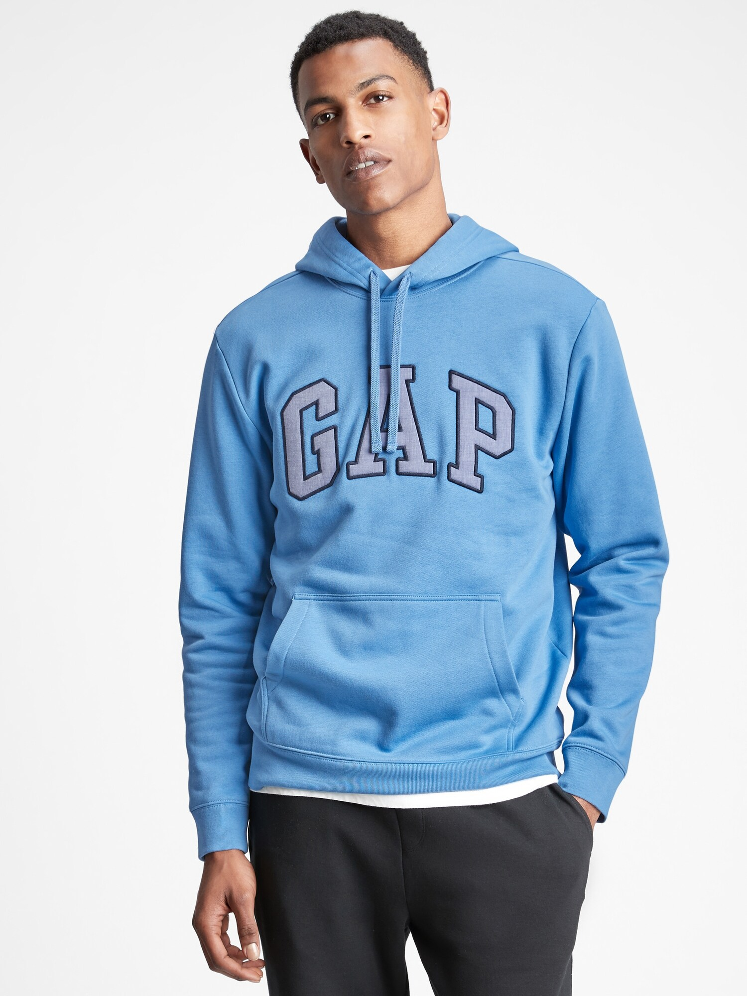 Mikina GAP Logo hoodie Modrá - XS