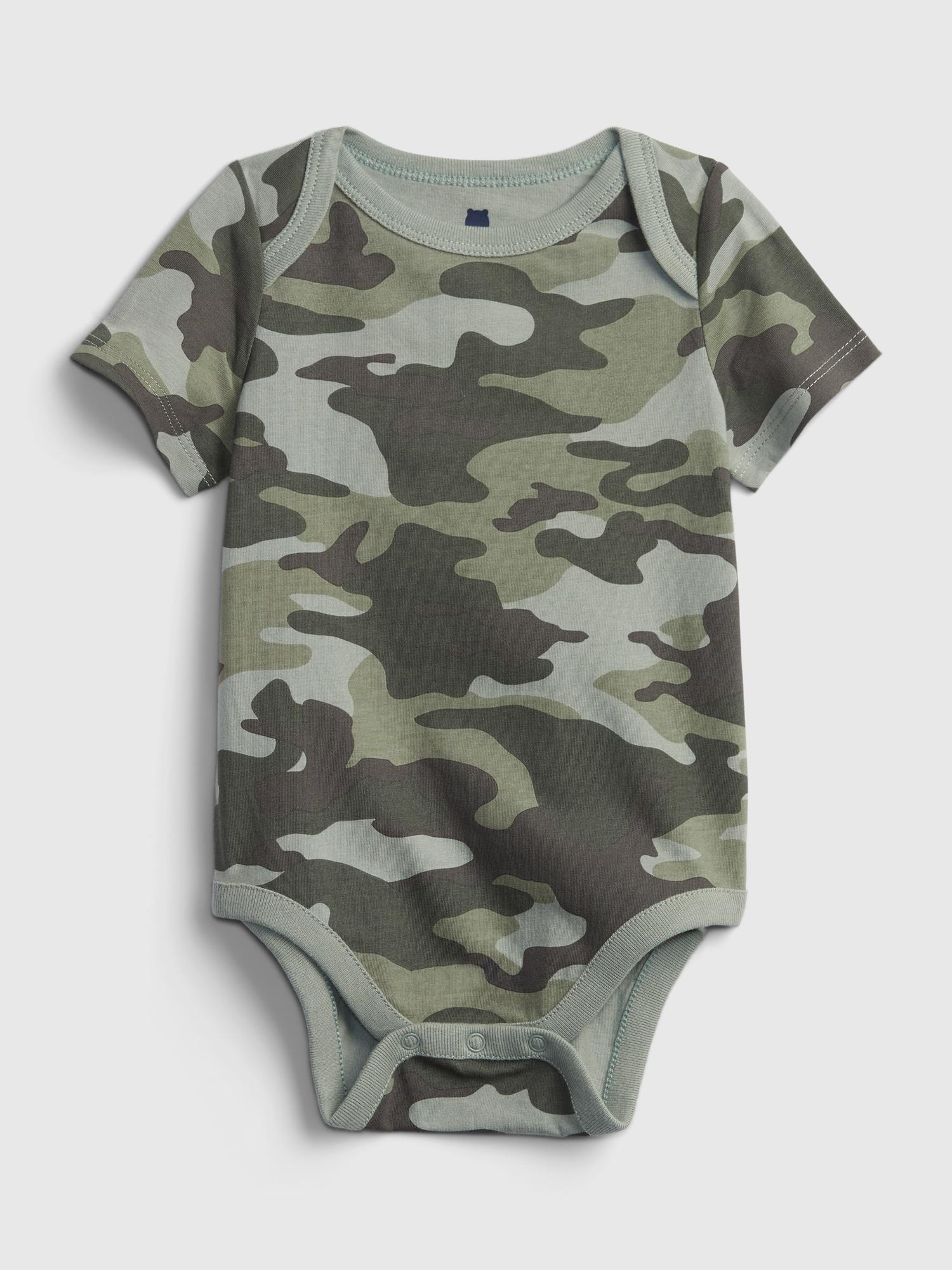 Baby body organic cotton mix and match print bodysuit Zelená - 3-6M